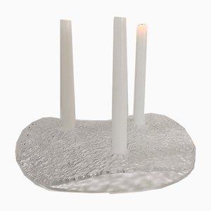 Scandinavian Modern Candleholder by Uno Westerberg for Pukeberg Glasbruk, 1970s