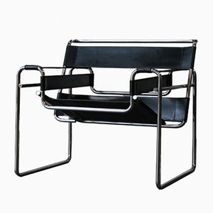 Vintage Wassily Armchair by Marcel Breuer, 1980s