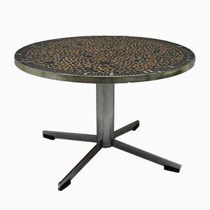 Tavolino da caffè vintage in metallo cromato, anni '60