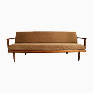 Dänisches Sofa mit Gestell aus Teak, 1950er