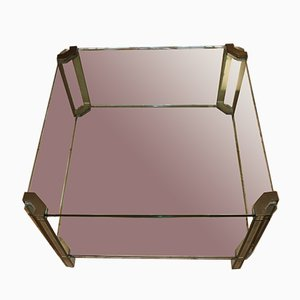 Glass and Bronze Coffee Table by Peter Ghyczy, 1970s
