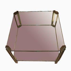Table Basse en Verre et Bronze par Peter Ghyczy, 1970s