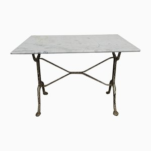 Cast Iron and Marble Garden Table, 1930s