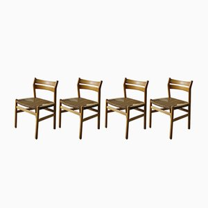 Mid-Century Model BM1 Dining Chairs by Børge Mogensen for C.M. Madsen, Set of 4