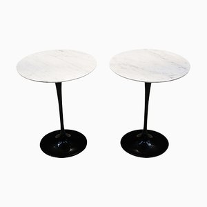 Vintage White Marble Tulip Side Table by Eero Saarinen for Knoll Inc. / Knoll International, 1980s