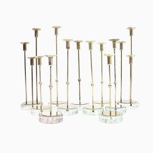 Kerzenhalter von Gunnar Ander für Ystad-Metall, 1960er, 11er Set