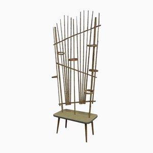 Biombo de bambú, años 50