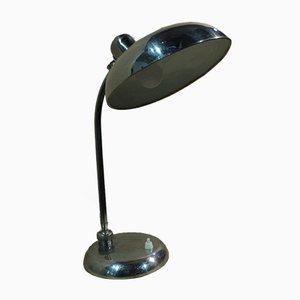 Lámpara de mesa regulable de latón cromado de Seminara Torino, años 50