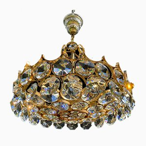 Mid-Century Hollywood Regency Gilt Chandelier by Ernst Palme, 1960s
