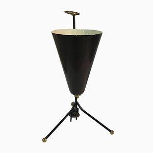 Italian Brass and Smaalto Table Lamp from Stilnovo, 1970s