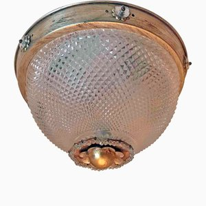Glass Ceiling Lamp from Banci, 1980s