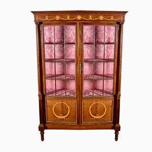 Edwardian Mahogany Display Cabinet, 1900s