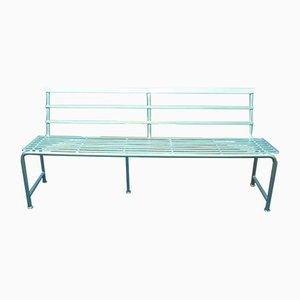 Mid-Century Industrial Metal Bench, 1950s