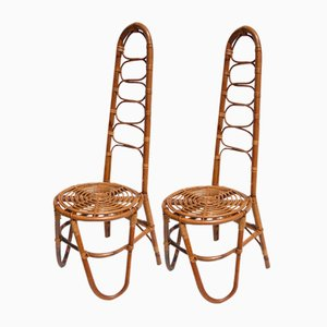 Rattan Garden Chairs, 1950s, Set of 2
