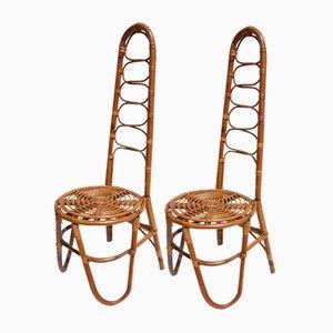 Rattan Garden Chairs, 1950s, Set of 2