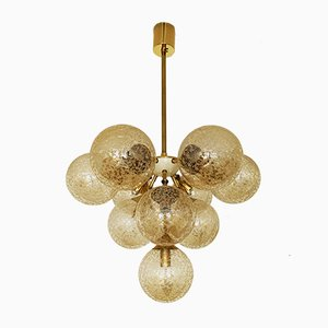 Golden Sputnik Chandelier, 1960s