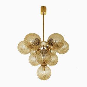 Lámpara de araña Sputnik dorada, años 60