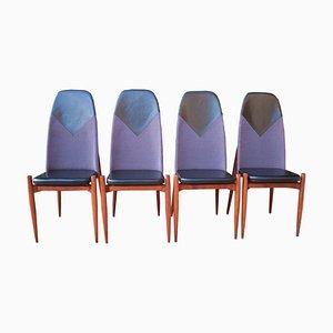 Esszimmerstühle von Miroslav Navratil, 1960er, 4er Set
