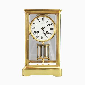 Antique Brass Mantle Clock from HP & Co, 1880s