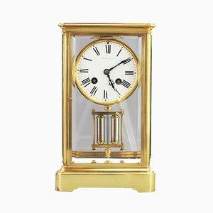 Reloj de repisa antiguo de latón de HP & Co, década de 1880