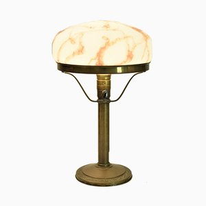 Swedish Art Nouveau Copper and Glass Table Lamp, 1920s