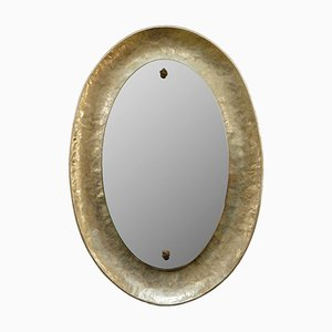 Italian Nickel Plated Bragalini Mirror, 1960s