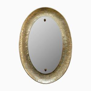 Miroir Bragalini Plaqué Nickel, Italie, années 60