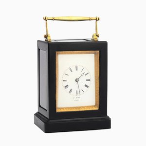 Antique French Ebony Clock from Henry Marc, 1850s