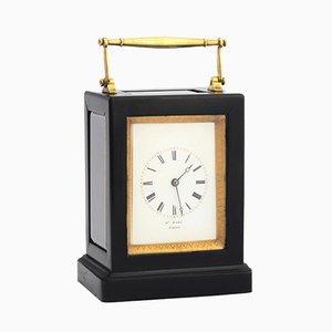 Orologio antico in ebano di Henry Marc, Francia, metà XIX secolo