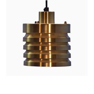 Danish Brass Ceiling Lamp, 1970s