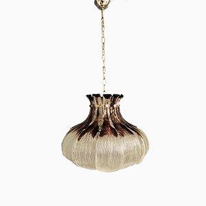 Lámpara colgante de cristal de Murano de Carlo Nason para AV Mazzega, años 70