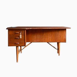 Boomerang Schreibtisch von Peter Løvig Nielsen für Hedensted Møbelfabrik, 1950er