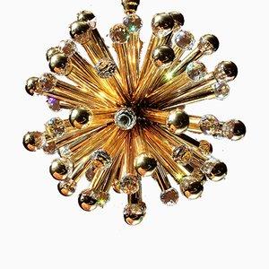 Lustre Sputnik Mid-Century Doré par E. Palme pour Palwa, 1960s