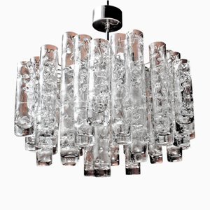 Vintage German Art Glass Chandelier from Doria, 1970s