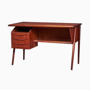 Small Mid-Century Danish Teak Desk, 1960s