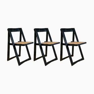 Folding Chairs by Aldo Jacober for Bazzini, 1970s, Set of 3
