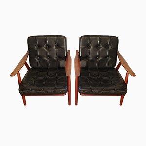 GE-270 Sessel aus Teak von Hans Wegner für Getama, 1950er, 2er Set