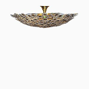 Large Mid-Century Gilt Ceiling Lamp from Palwa, 1960s