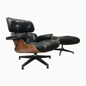 Model 670-671 Lounge Chair by Charles & Ray Eames for Herman Miller, 1970s