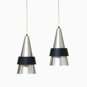 Lámparas colgantes de Johannes Hammerborg para Fog & Mørup, años 60. Juego de 2