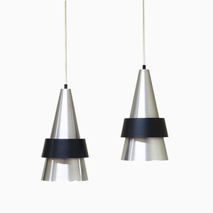Pendant Lamps by Johannes Hammerborg for Fog & Mørup, 1960s, Set of 2