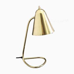 Lampe de Bureau Ajustable Mid-Century en Laiton par Jacques Biny pour Luminalité, 1950s