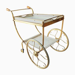 Brass Bar Trolley by Josef Frank for Svenskt Tenn, 1958