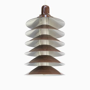 Brown Metal Ceiling Lamp, 1970s