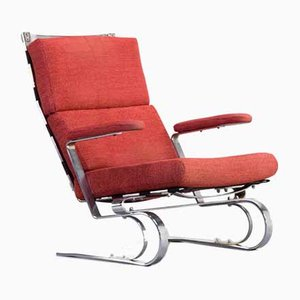 Chrome Metal Lounge Chair, 1970s