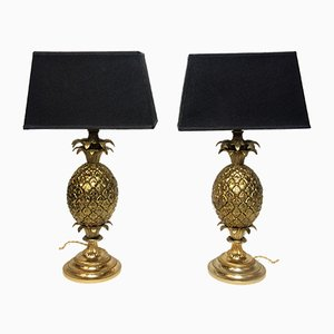 French Pineapple Table Lamps, 1960s, Set of 2
