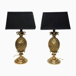 Lampes de Bureau Pineapple, France, années 60, Set de 2