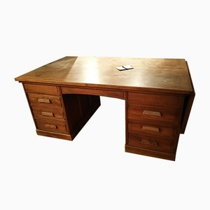 Vintage Oak Work Table, 1940s