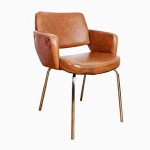 Vintage Sessel mit Chromgestell, 1950er