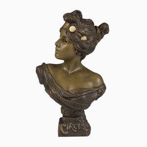 French Art Nouveau Sculpture Bust by Emmanuel Villanis
